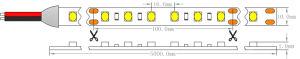 Marcação UL 5800K branco frio IP65 Impermeável2835 SMD LED Epistar Luz de faixa
