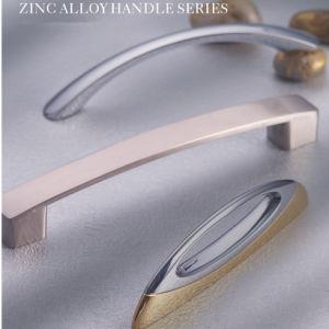Ferragens de aço inoxidável de alumínio de liga de zinco puxador de armário de ferro