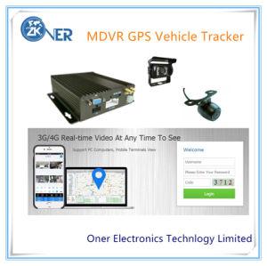 Coche de 4 Canales DVR Móvil con GPS de Seguimiento WiFi 3G 4G