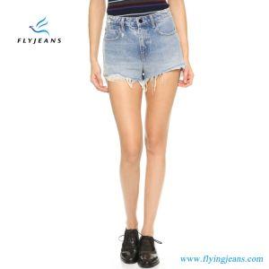 Short scarno del denim dei pantaloni delle donne calde di vendita mini