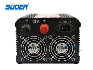 Suoer 2000W Inverter DC 12V a 230V AC Inversor de Energía Solar (HDA-2000C)