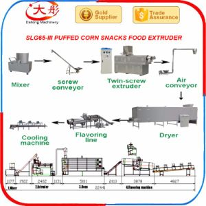 Des collations soufflées Making Machine de production alimentaire