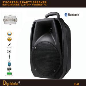 8  PA 시스템 옥외 입체 음향 Bluetooth Karaoke 재충전 전지를 가진 무선 휴대용 당 스피커