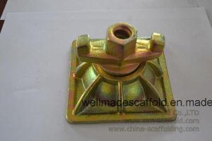 Le métal sous forme de travail de l'écrou avec rondelle de la plaque d'aile