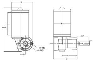 24V 180r DC Motor del cepillo de la caja de velocidades de transmisión planetaria