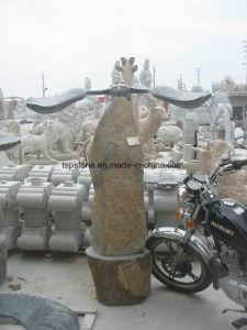 花こう岩の庭の景色のための石造りの庭の彫刻