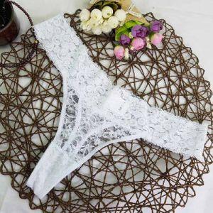 Venta caliente de nylon de encaje señoras mujeres Sexy Bragas cadena G