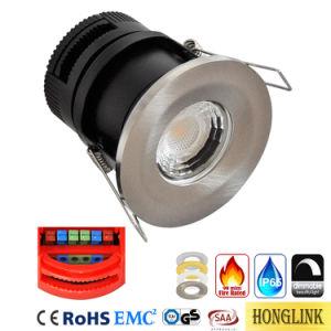 Ce AEA IP65 regulable de 8W LED de luz empotrables de techo hacia abajo con 90 minutos de la luz de baja resistencia al fuego