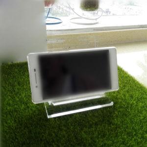 Fußboden, der Großhandelsacryltelefon-Bildschirmanzeige steht