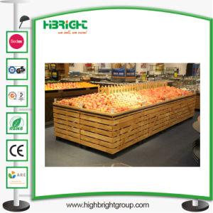 Verbrauchergrossmarkt-hölzerner Ausstellungsstand für Obst und Gemüse