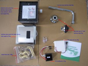 은폐된 임명 자동적인 검사용 오줌병 훌러쉬 밸브