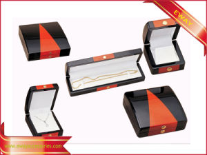 Contenitore di legno di imballaggio dei monili di modo di orecchino di legno del contenitore