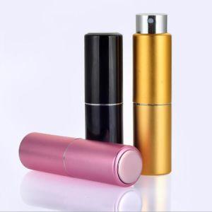 Gire a la forma de barra de labios muestra vacía la Botella de Perfume de cristal de 8ml Spray Tipo giratorio aluminio envases cosméticos Parfum botella