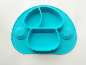 Utensílios de tapete de borracha de silicone de mesa Placemat de bebé
