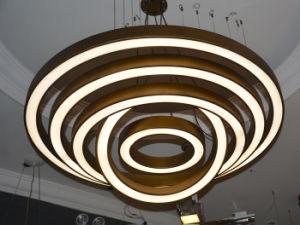 Moderner LED Leuchter des antiken Messinghotel-Projekt-, derhängende Lampe in einigen unterschiedliche Größe hängt