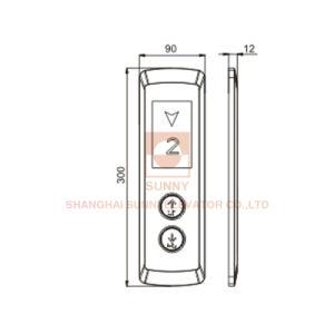 Acero inoxidable ascensor Lop / Componentes eléctricos para el pasajero de elevación (SN-LOP-S104)