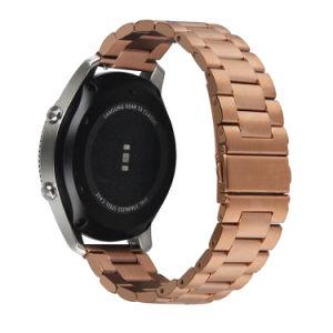 Samsung 기어 S3 국경 고전 22mm 금속 시계 줄 결박을%s 스테인리스 시계 결박