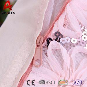 花の結び目ポリエステルサテンの方法人魚のスパンコールの枕