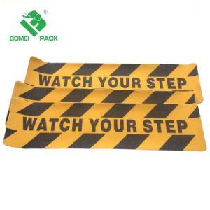 Cuidado e veja o seu passo a fita de segurança antiderrapante Fita de segurança Antiderrapagem 6'' por 24 aplicáveis no interior ou exterior