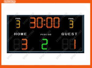 Hochschulkerbt elektronische Fußball-Anzeigetafeln, drahtloses Futsal Schaukasten ein