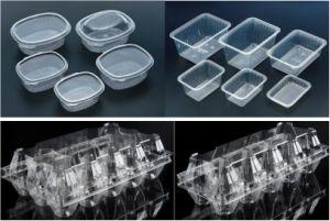Coupelle en plastique de haute qualité Capot machine de thermoformage