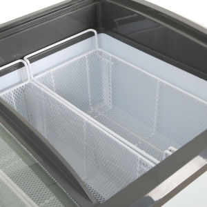 Сделано в Китае коммерческих опускное стекло задней двери мороженое машины/прилавок-витрина 550L