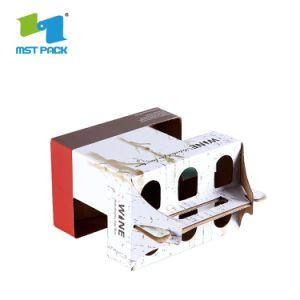 安い価格の波形の出荷のびんのボール紙のワイングラスボックス