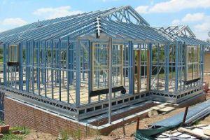 Estructura de acero modular de la construcción de casas prefabricadas