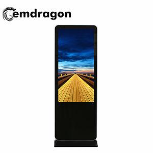 Kiosco comercial de 32 pulgadas LCD táctil de reproductor de HD Ad Ad Reproductor de Vídeo LCD Digital Signage 1000 El brillo de la Nit de la pared de vídeo LCD pantalla Displayled de publicidad automóvil