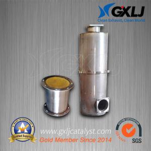 Silenciador catalizador SCR para motor Diesel con depósito de urea