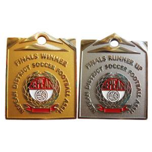 Neue Ankunft kundenspezifisches Nepean Bezirks-Fußball-Fußball-Gold/Silber-/Nickel-Metallgeschenk-Medaille (089)