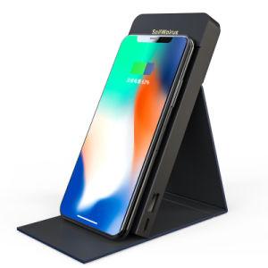 Venta de portátiles estándar Qi caliente móvil soporte/cargador de teléfono inalámbrico/Rápida Banco de energía inalámbrica para iPhone y Samsung