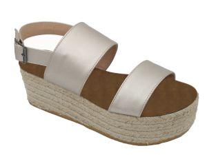 Les femmes de l'été ouvrir les filtres en coin romain sandales de plage de la TOE chaussures de la plate-forme