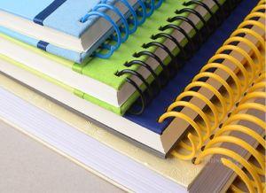 Продажа на заказ синий спираль обязательного ноутбук с эластичной ленты