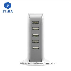 La familia de 5 puertos USB cargador de escritorio Multi-Port Cargador, carga rápida cargador USB 2.0 Docking Station