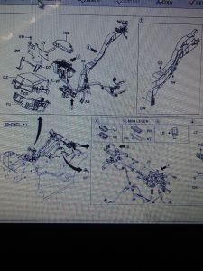 Cablaggio di collegamenti dell'automobile del carrello elevatore 8fd35/40/45/50/60/70/80n di Toyota intero 56011-N3170-71