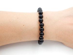 De halfedel Parels van de Armband van de Halfedelsteen van het Onyx om de Decoratie van de Juwelen van 610mm