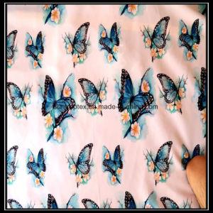 Polyester-Silk Satin-Gewebe mit Digital-Basisrecheneinheits-Druck für Garment/100% Polyester-Satin-Gewebe