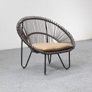 Piscina móveis de vime Chaise Cadeira de vime único