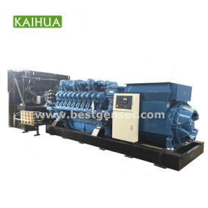 geöffneter Typ Hochspannungsdieselmotor-Generator-Hersteller MTU-3000kVA