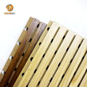 Comitato acustico di legno Grooved del nuovo materiale ecologico