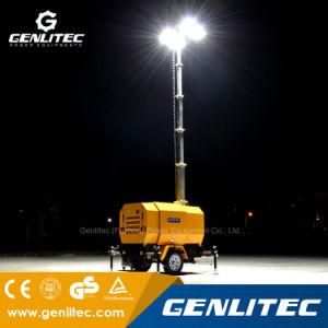 中国Yangdongエンジンは9mの油圧マストの緊急の構築の移動式照明タワーに動力を与えた