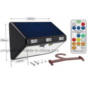 6モード66 LEDのリモート・コントロールおよびホックが付いている太陽動きセンサーの庭の屋外ライト