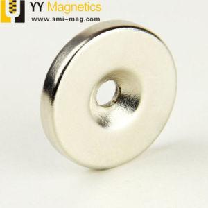 高品質の希土類強い力によってさら穴を開けられるNdFeBディスク磁石