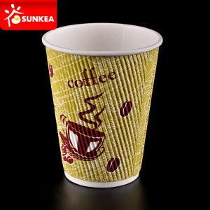 Conception de logo personnalisé en carton ondulé jetables imprimé Mur d'ondulation du papier chaude tasse de café