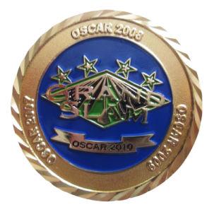 Kundenspezifische Zink-Legierungs-O.K.-Geste-Team-Decklack-Flaschen-Öffner-Metallmünze (070)