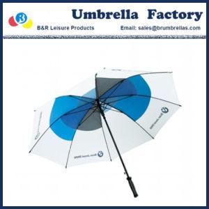 Ombrelli promozionali poco costosi su ordinazione di golf di Sun di vendita diretta della fabbrica con il marchio stampato