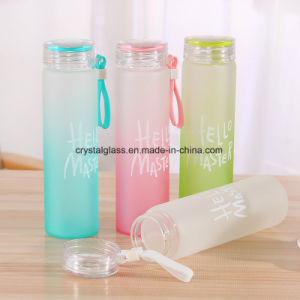 O desporto reutilizáveis garrafa de água de vidro com tampa de plástico