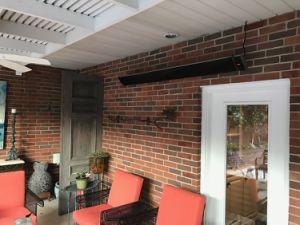 Novo montado na parede aquecedores elétricos por radiação de infravermelhos