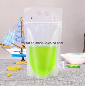 Boisson de jus de plastique de qualité alimentaire sacoche avec dessiner